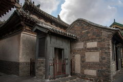 Penglai Penglai Pavilion and drenched floor Shandong Penglai Pavilion Stock Image