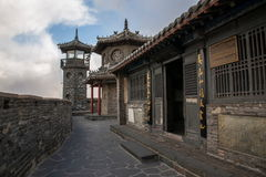 Penglai Penglai Pavilion and drenched floor Shandong Penglai Pavilion Stock Photos