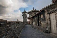 Penglai Penglai pawilon i wymokły podłogowy Shandong Penglai pawilon Zdjęcie Royalty Free