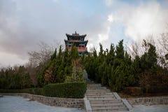 Penglai-Stadt, Shandong Provinz Danya Mountain Hop HaiTing Lizenzfreies Stockbild