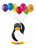 Penguin με τα μπαλόνια Στοκ Φωτογραφίες