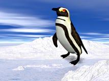 penguin στάση χιονιού Στοκ Φωτογραφίες