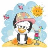 Penguin στην παραλία Στοκ Εικόνες