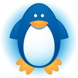 Penguin. Cute Cartoon Blue and White Penguin Royalty Free Stock Image