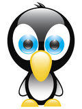 Penguin. Cartoon blue-eyed baby penguin Royalty Free Stock Photography