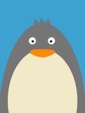Penguin. Illustration under a blue sky Royalty Free Stock Photo