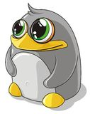 Penguin. Grey penguin with big eyes Royalty Free Stock Photography