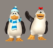 Penguin. Cute 3d penguins for your artistic creations and/or projects Stock Images