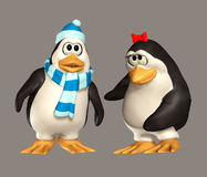 Penguin. Cute 3d penguins for your artistic creations and/or projects Royalty Free Stock Photography