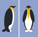Penguin. In face and profile royalty free illustration