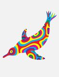 Penguin abstract colorfully Stock Photography