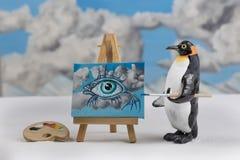Penguin artist Stock Image