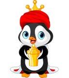 The Penguin as a Biblical Magi. Penguin, Biblical Magi, the wise men follow the Star of Bethlehem Stock Images