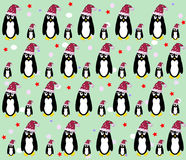 Penguin background vector Royalty Free Stock Photography