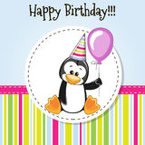 Penguin with balloon Royalty Free Stock Photo