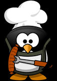 Penguin, Barbecue, Animal, Funny Stock Images
