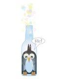 Penguin in a Bottle Stock Photo