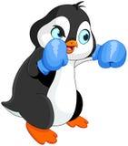 Penguin boy boxer vector illustration