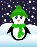 Penguin in the cap Royalty Free Stock Photography