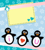 Penguin card Royalty Free Stock Photography