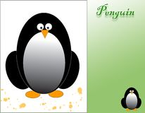 Penguin card Royalty Free Stock Images