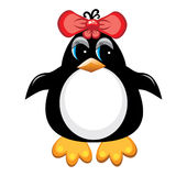 Penguin cartoon bird. Girl. Stock Images