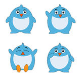 Penguin cartoon character set. Contains icons penguin with expression. can be used in web icons, printed books and e-books, power point, etc Stock Photos