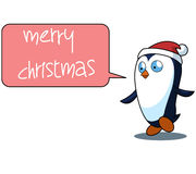 Penguin Cartoon Christmas Illustration Stock Image
