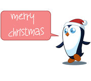 Penguin Cartoon Christmas Illustration Full Color Royalty Free Stock Photography