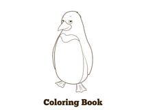 Penguin cartoon coloring book vector illustration. Penguin cartoon coloring book colorful funny hand drawn vector illustration vector illustration
