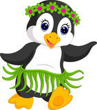 Penguin cartoon dancing Royalty Free Stock Photography