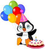 Penguin Celebrates Birthday Royalty Free Stock Photo