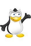 Penguin Character - Presenting Royalty Free Stock Images