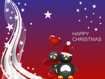 Penguin christmas Royalty Free Stock Images