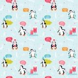 Penguin Christmas Background Stock Image