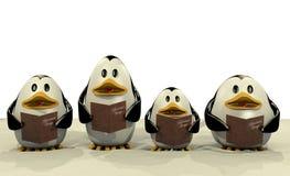 Penguin Christmas chorus Stock Image