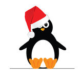 Penguin with christmas hat  Royalty Free Stock Images