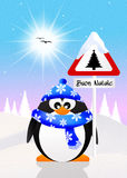 Penguin with Christmas sign Stock Photography