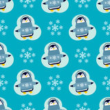 Penguin christmas vector illustration character cartoon seamless pattern animal antarctica polar beak pole winter bird. Penguin christmas vector illustration Royalty Free Stock Photography