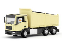 Penguin Coal Delivery Driver Stock Photo