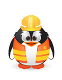 Penguin with construction outfit Royalty Free Stock Photo
