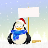 Penguin with Cristmas hat Stock Photos
