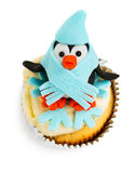 Penguin cupcake Stock Photo