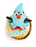 Penguin cupcake. Isolated on white background Stock Photo