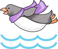 PENGUIN DIVING Royalty Free Stock Photography