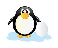 Penguin with egg Royalty Free Stock Photos
