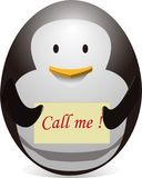 Penguin egg-shaped(call me) Stock Images