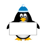 Penguin empty board Stock Photos