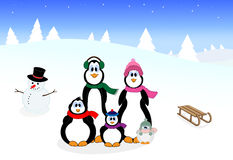 Penguin family Royalty Free Stock Images
