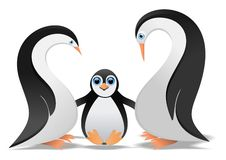 Penguin family. Vector illustration of penguin family Royalty Free Stock Image